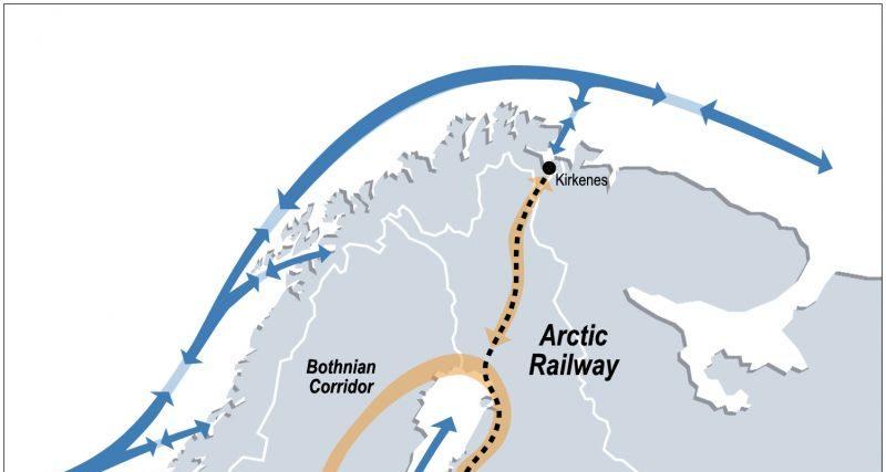 Nordre Lappland begynner utredning: – To-tre mulige jernbanetraseer til Kirkenes