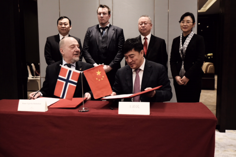 Historisk samarbeidsavtale mellom Sør-Varanger og Kina