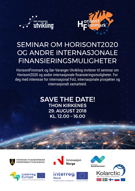 Seminar om Horisont2020 og andre internasjonale finansieringsmuligheter
