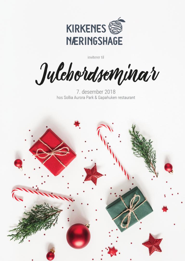Kirkenes Næringshage arrangerer julebordseminar
