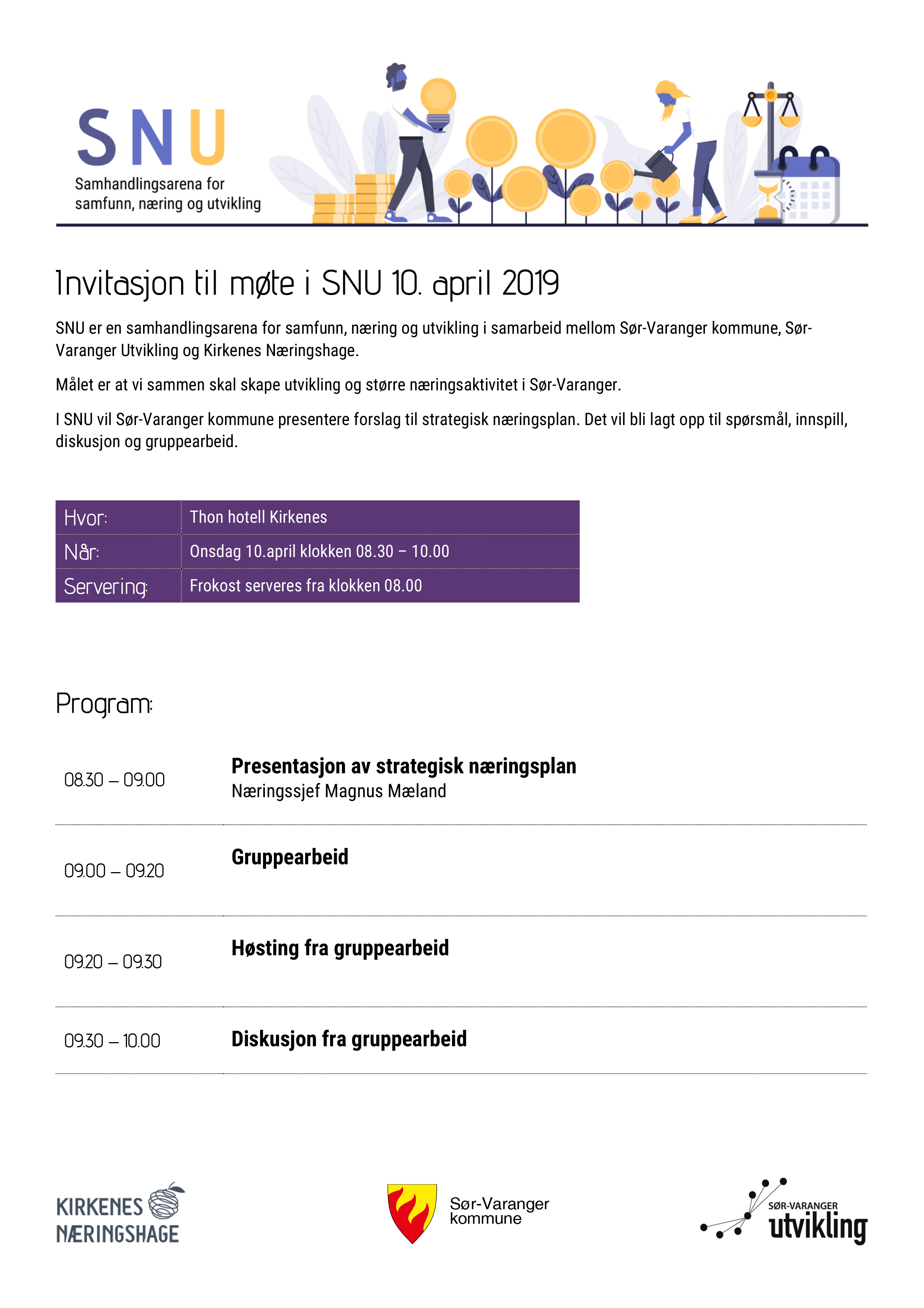 Invitasjon til møte i SNU 10. april 2019