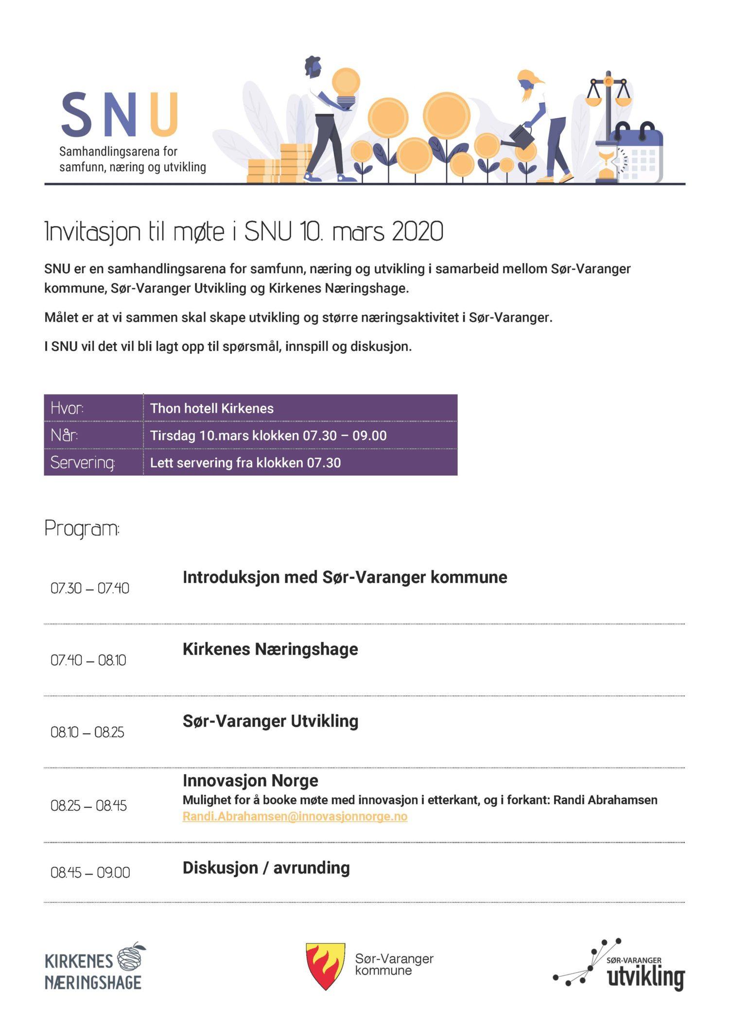 Invitasjon til møte i SNU 10. mars 2020